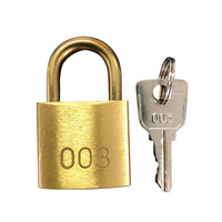 003 Padlock and Key with Short Shackle