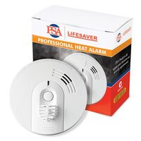 PSA Heat Alarm 240v with 9v Battery Backup