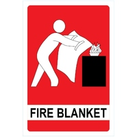 Fire Blanket Sign (Metal) 155mm x 230mm