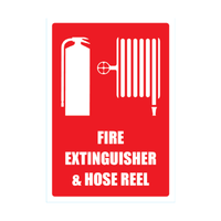 Fire Extinguisher & Hose Reel Sign (Large) 220mm x 320mm
