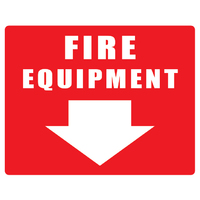 Fire Equipment with ( Arrow ) 250mm x 200mm