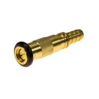 Brass Hose Reel Twist Nozzle Jet Spray Rubber Bumper with 19mm Tail
