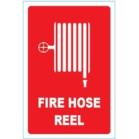 Fire Hose Reel Location Sign (Small) - Sticker 155mm x 235mm