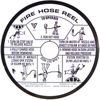 Plastic Fire Hose Reel Instruction Label