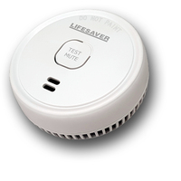 PSA Smoke Alarm 9V Battery Powered Photoelectric (Test & Mute Button)