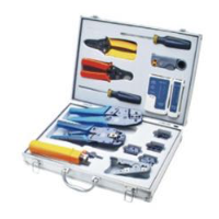 NETWORK TOOL KIT TL-K4015 INCLUDING CRIMPER, PD TOOLS, BLADES, DIES AND OTHERS