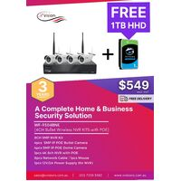 4CH Bullet Wireless Wi-Fi NVR Kit