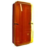 4.5kg Plastic Extinguisher Cabinet w/Yellow Transparent  Front Cover (320mm x 200mm x 630mm)