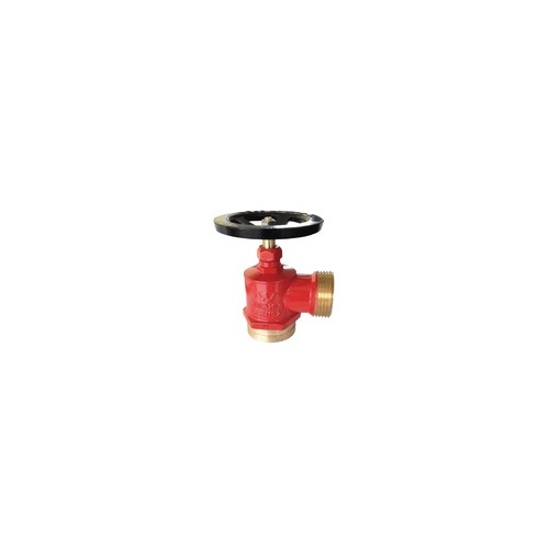 "Hydrant Landing Valve DN65., INLET connection 80mm (3"") Grooved and 65mm  Female BSP. OUTLET: NSW 5v thread. Approved to AS2419.2"