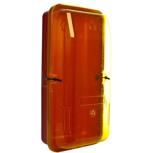 9.0kg Plastic Extinguisher Cabinet w/Yellow Transparent  Front Cover (340mm x 220mm x 690mm)